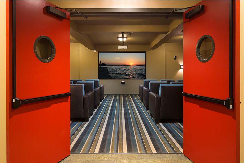 Movie theater from doorway