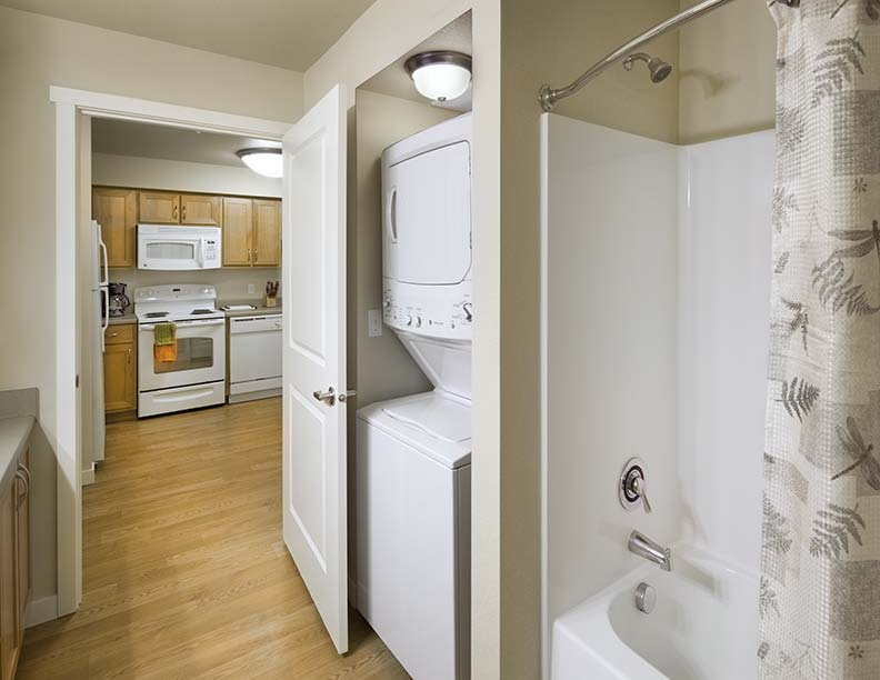 Bathroom and washer and dryer